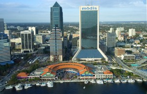 Downtown Jacksonville aerial