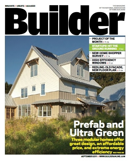 Home photo in builder magazine for Modern home builder magazine