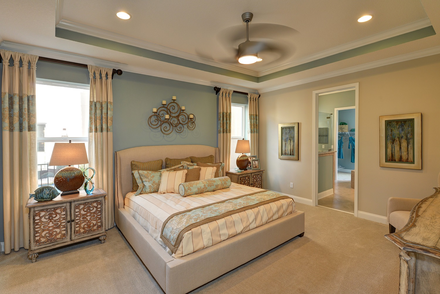 Sisler Johnston Interior Design Completes Ici Homes Lucca Model At Siena At Town Center What