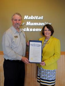 HabiJax Proclamation - Mary Kay O'Rourke, Rod Borom