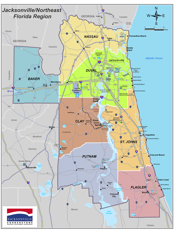 Map Northeast Florida.Northeast Florida Regional Council Recognizes Leaders Who