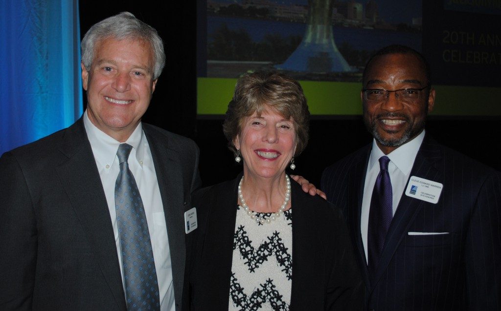 Ceree Harden III, Connie Hodges, Cleve Warren (l to r)