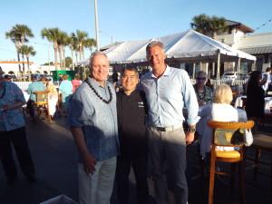 E. Burr, Chef Roy and Matt Rapp